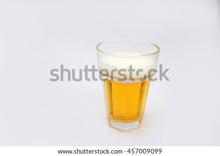Glass beer isolated on white background