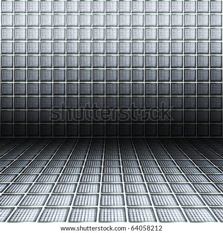 glass block wall background