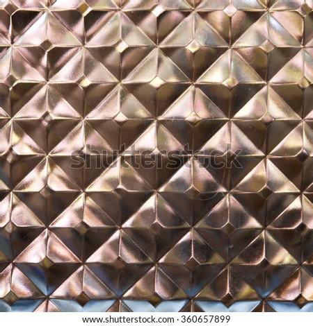 Glass block wall texture closeup - stock photo