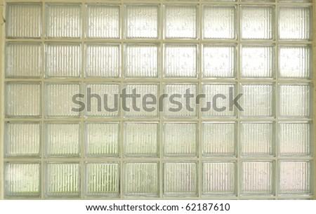 Glass blocks  simple wall economy - stock photo