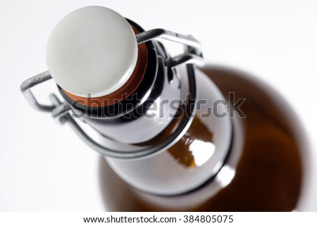 glass bottle isolated on a white background - stock photo