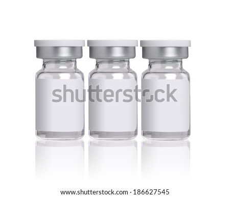 glass bottles for medicines - stock photo