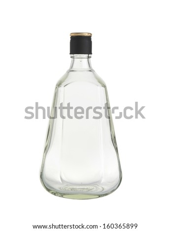 Glass bottles isolated on white background.