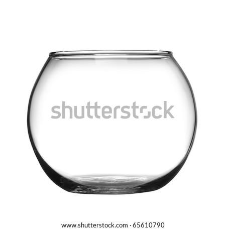 Glass bowl black - stock photo