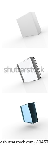 Glass box - stock photo