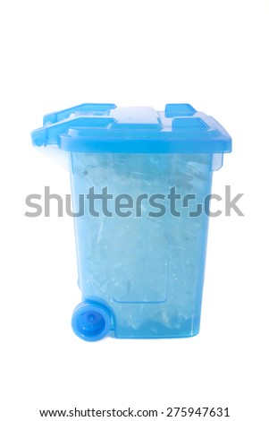 Glass box isolated on a white background - stock photo