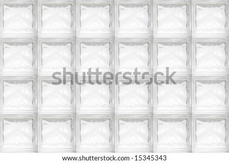 glass brick wall - seamless texture - stock photo