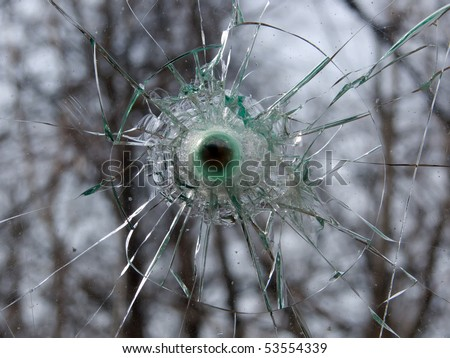 Glass  broken  abstract background - stock photo