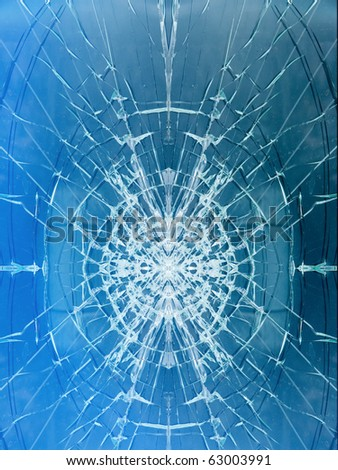 Glass   broken cracks  window