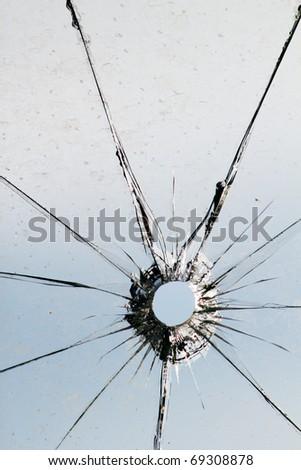 Glass  broken  shot  sky - stock photo