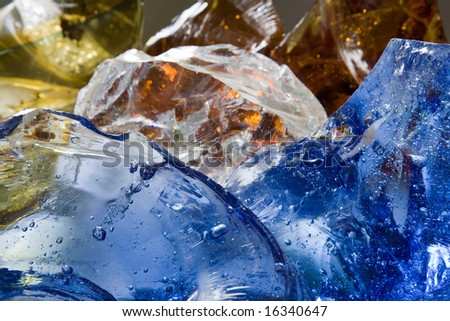 Glass bubbles. Color and shape background.