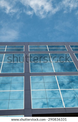Glass building and Cloud