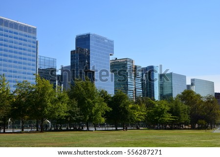 Glass buildings in Santiago Chile