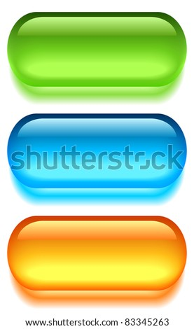 Glass buttons - stock photo