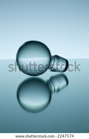 Glass capsule with reflection