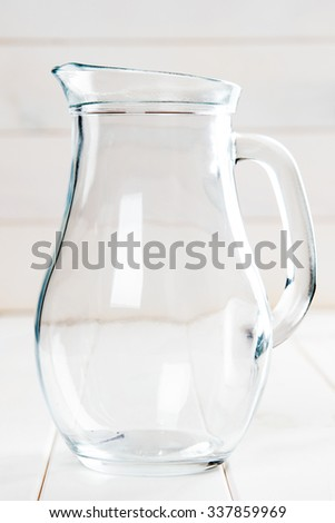 glass carafe - stock photo