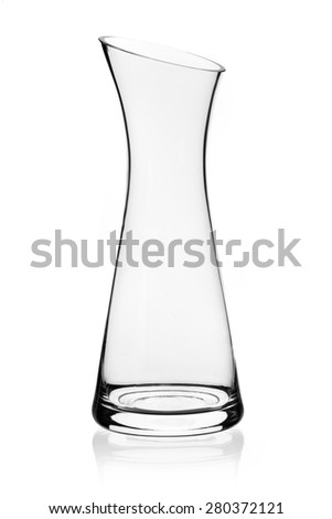 glass carafe isolated - stock photo