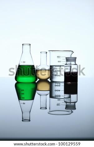 Glass chemistry tubes - stock photo