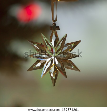 Glass christmas ornament - stock photo