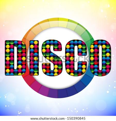 Glass Circle Color Disco Ball - stock photo