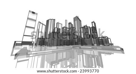 glass city - stock photo