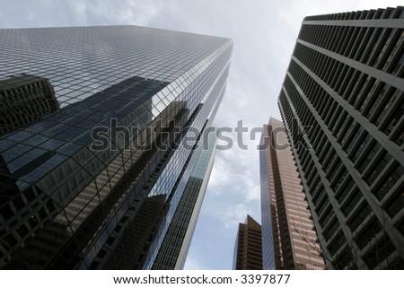 Glass & concrete - stock photo