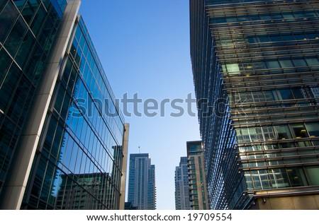 glass corporate buildings - stock photo