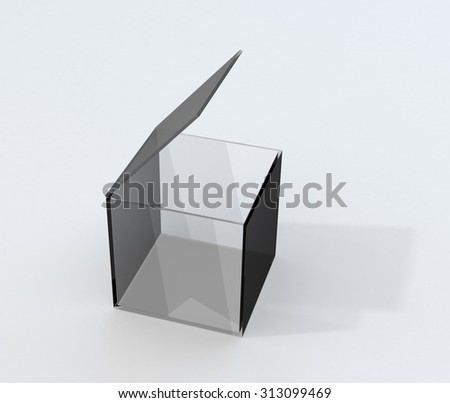 Glass cover box with shadow - stock photo