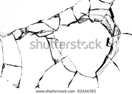 Cracked Glass Drawing Glass Cracks Broken Stock