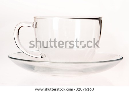 Glass cup.