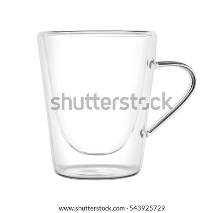 Glass cup, isolated on white