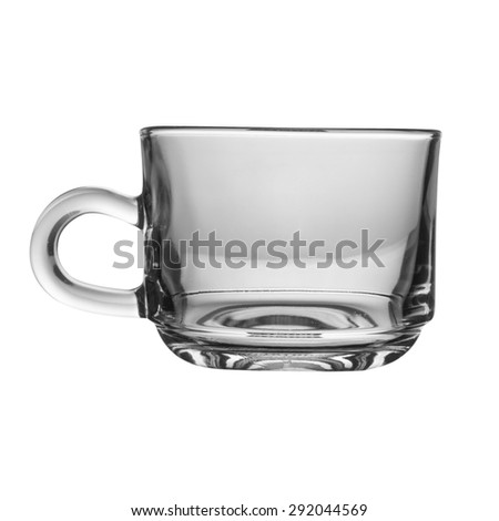 glass cup isolated on white background