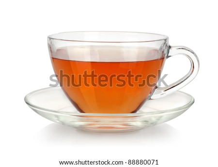 Glass cup of tea - stock photo
