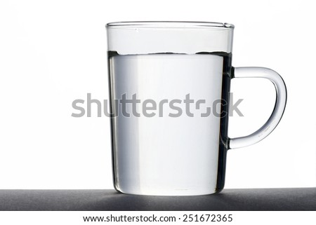 Glass Cup With Water - stock photo