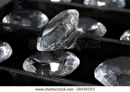glass diamonds - stock photo