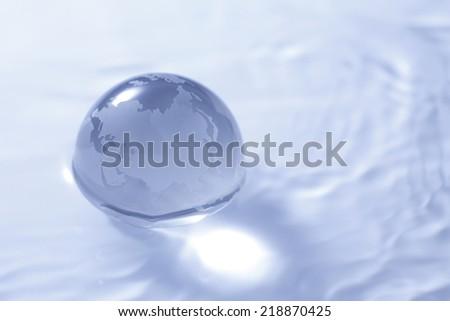 Glass Earth - stock photo