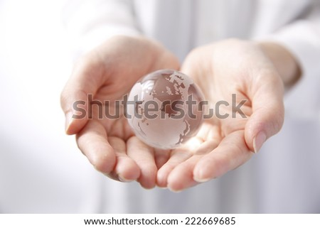 Glass Earth - stock photo