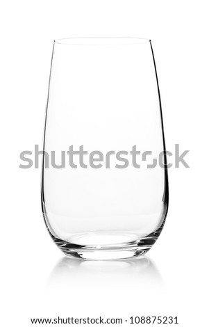Glass empty on white background - stock photo