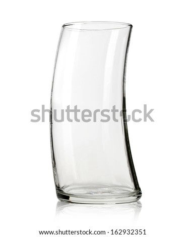 glass empty on white background. with clipping path