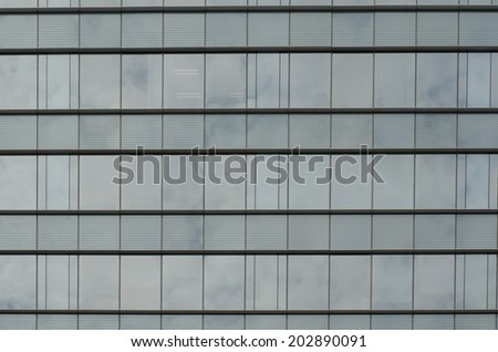 Glass facade design in Bangkok ,Thailand - stock photo