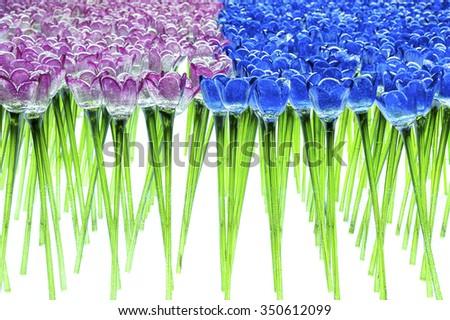 Glass Flower Tulip - stock photo