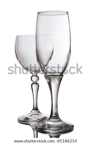 Glass for wine  isolated on white background