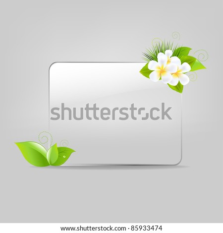 Glass Frame With Leafs And Flowers