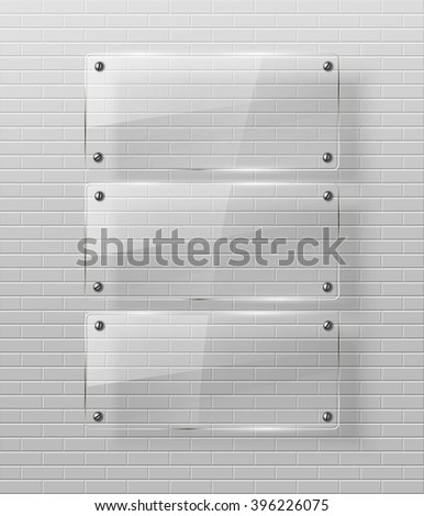 Glass framework  - stock photo
