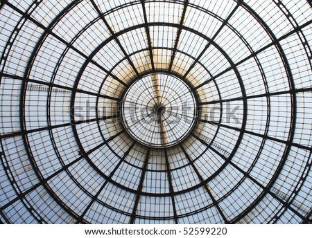 Glass gallery - Galleria Vittorio - stock photo