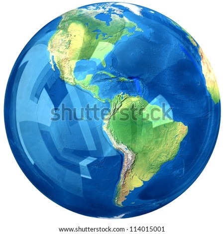 Glass globe. Elements of this image furnished by NASA. - stock photo