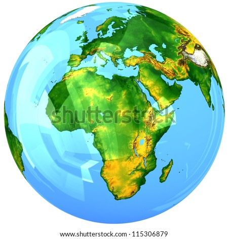 Glass globe. Elements of this image furnished by NASA - stock photo