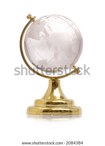 Glass globe over white background - stock photo