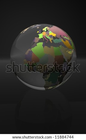 glass globe world concept message illustration