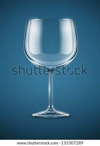 glass goblet for wine rasterized vector illustration. Vector version also available in my gallery